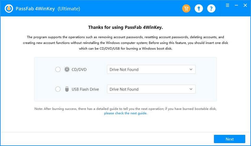 4winkey main interface