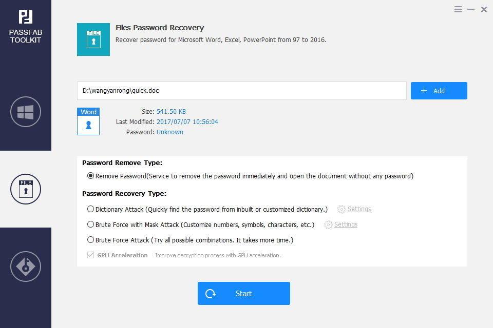 file password found