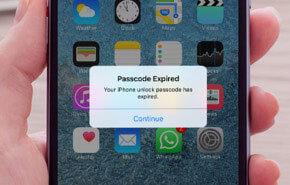 passcode expired